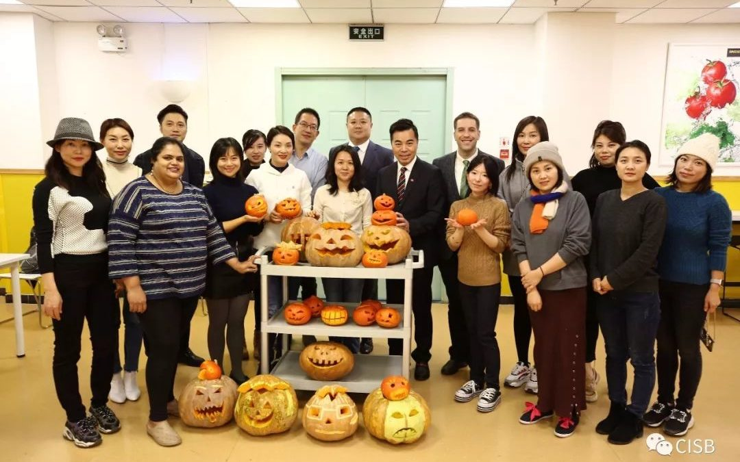 CISB Parents Carve Booo!-tiful Halloween Pumpkins