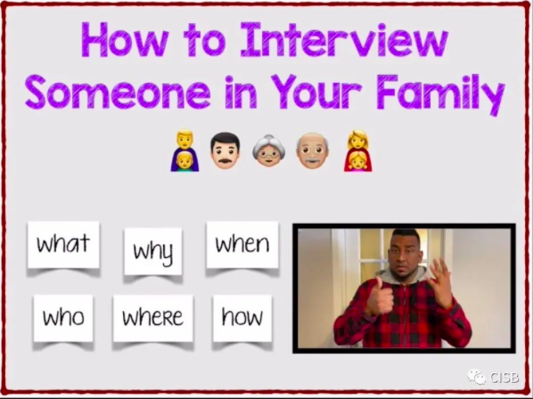 How to interview someone in your family